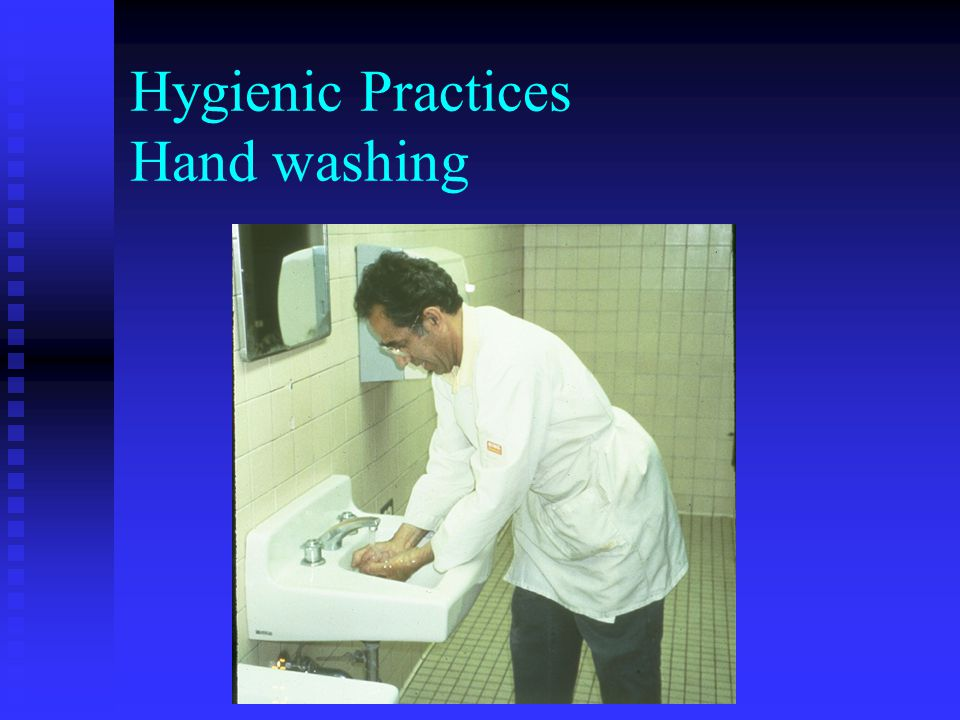 Hygienic Practices: Discharge from the eyes, nose, mouth Employees with persistent sneezing, coughing, or a runny nose with discharge may not work with exposed food, clean equipment, utensils, etc.