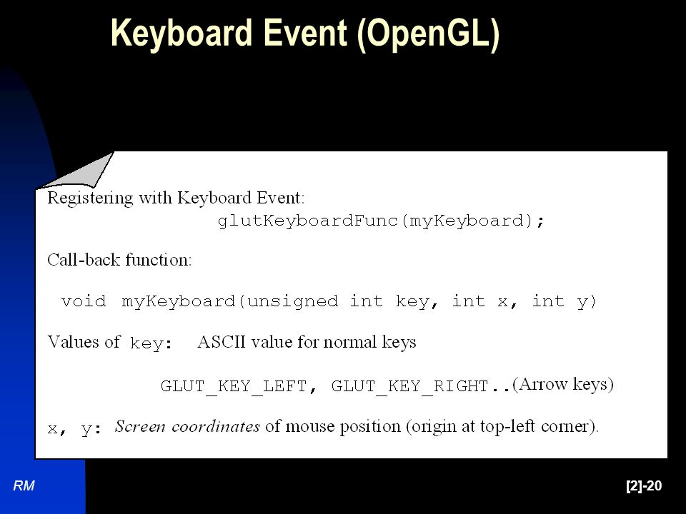 RM[2]-20 Keyboard Event (OpenGL)