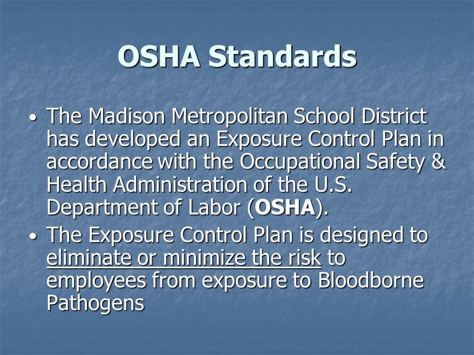 Exposure Control Plan 1.Hepatitis B vaccination 2.