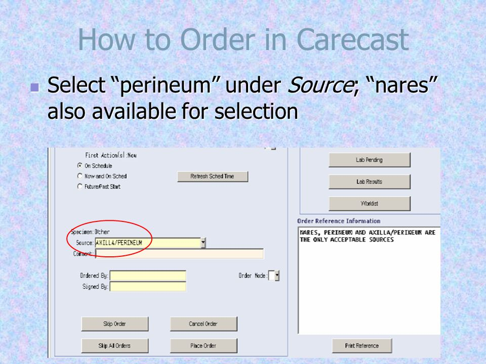 How to Order in Cerner Add an order & search for MRSA .