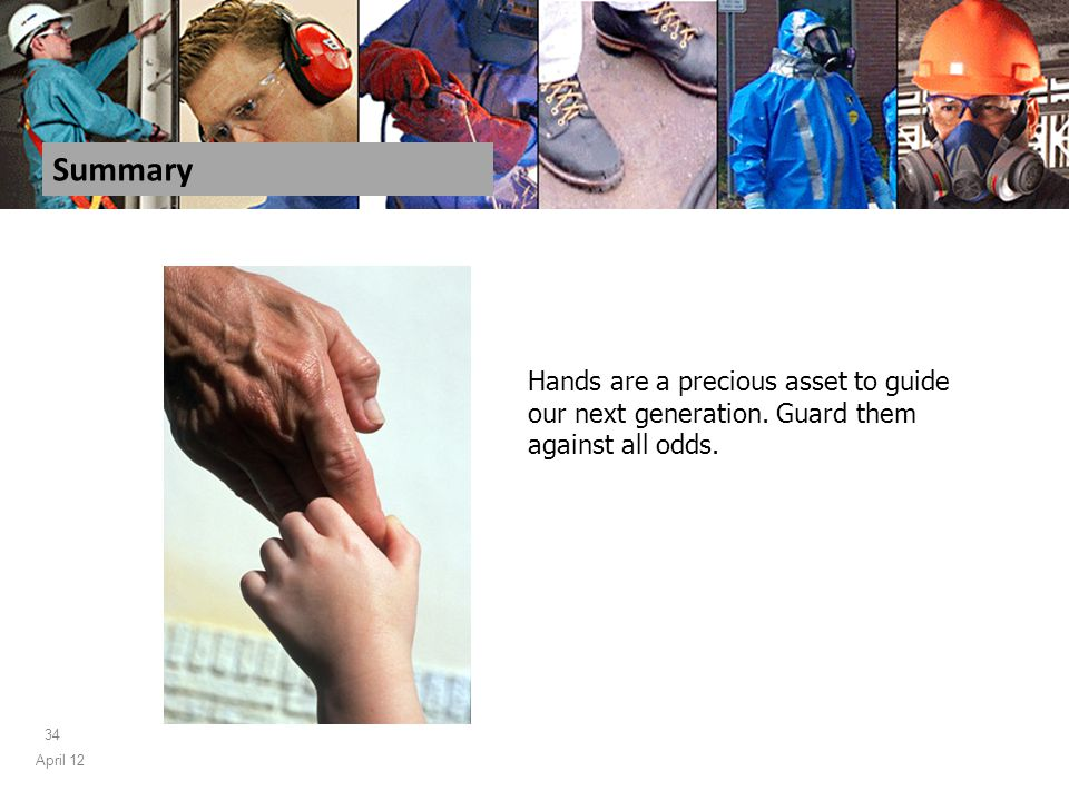April 12 34 Summary Hands are a precious asset to guide our next generation.