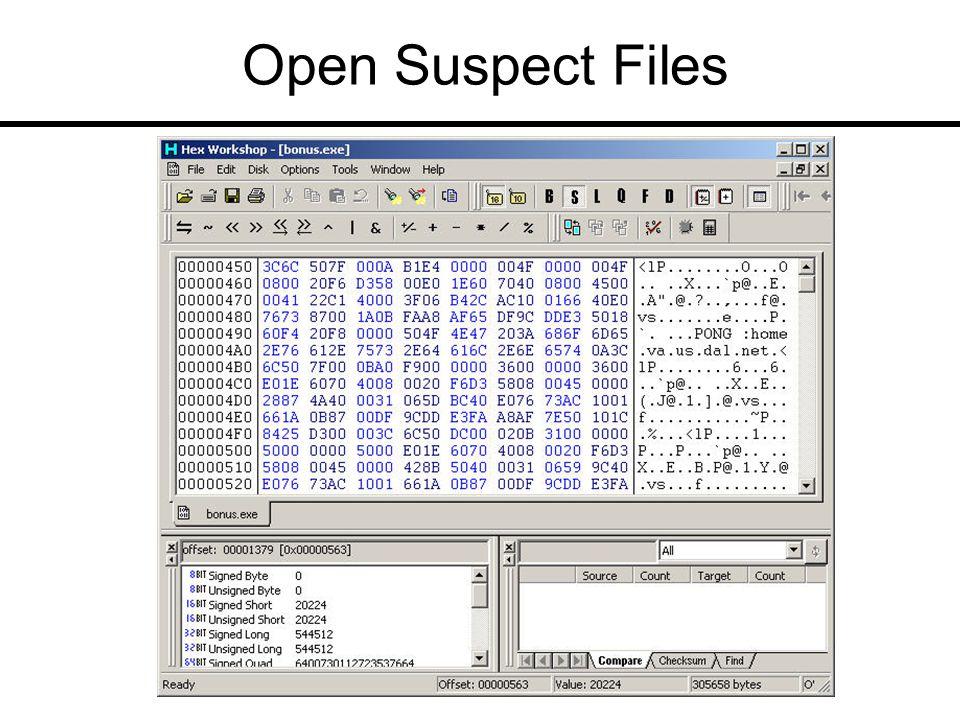 Open Suspect Files