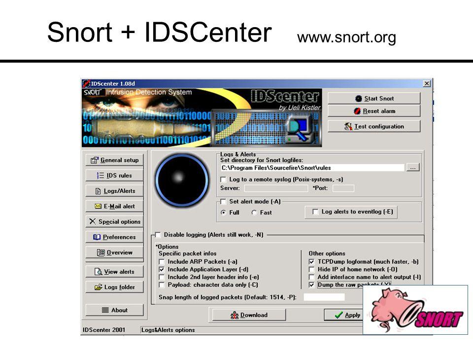Snort + IDSCenter www.snort.org