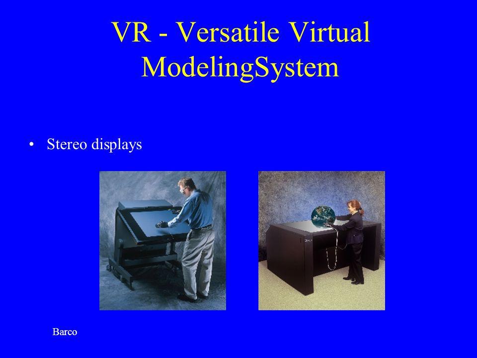 VR - Versatile Virtual ModelingSystem Stereo displays Barco