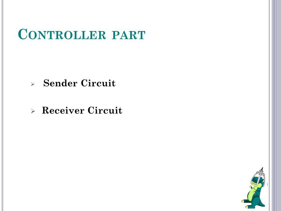 C ONTROLLER PART  Sender Circuit  Receiver Circuit