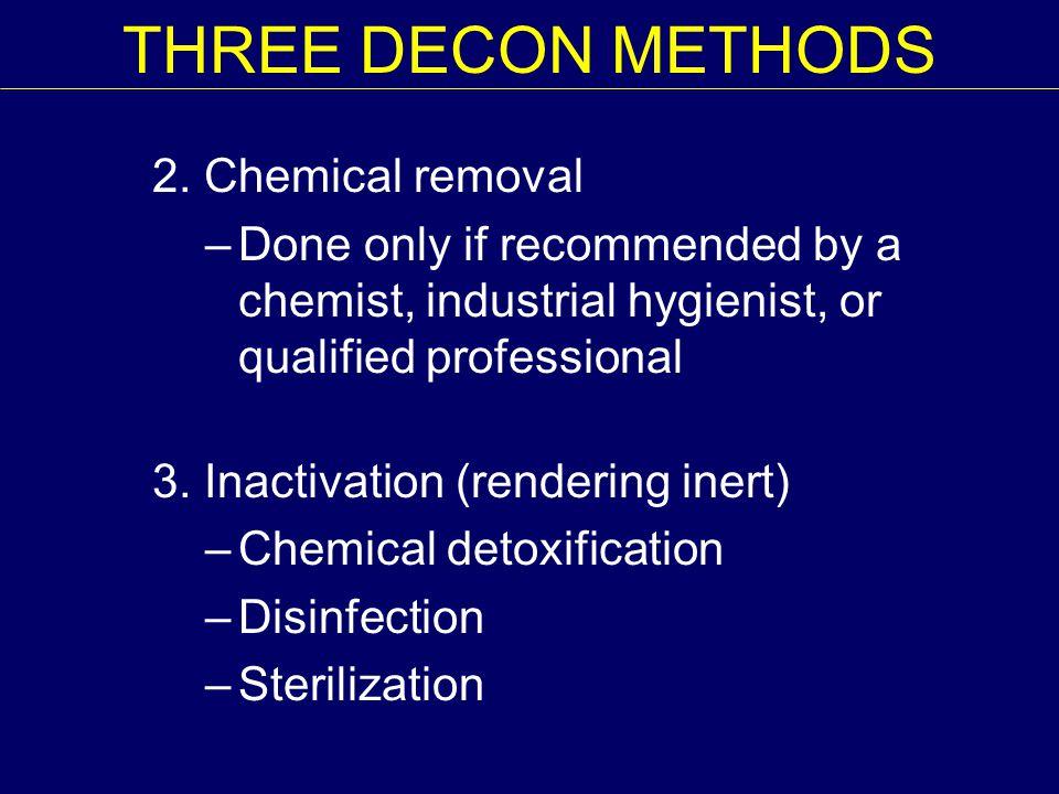 THREE DECON METHODS 2.
