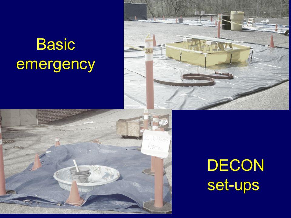 Basic emergency DECON set-ups