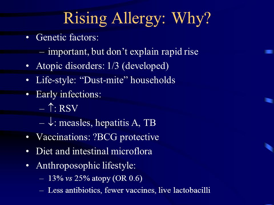 Rising Allergy: Why.