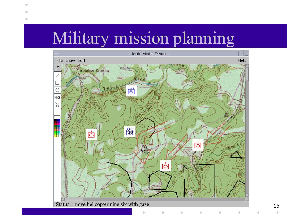 16 Military mission planning