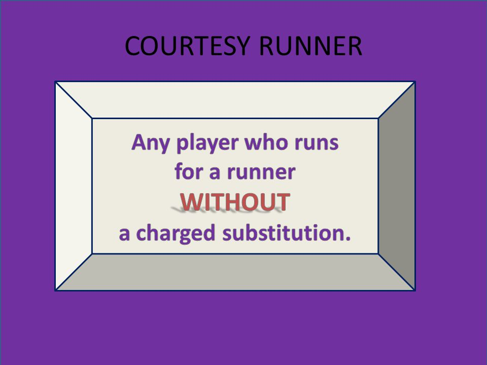 COURTESY RUNNER