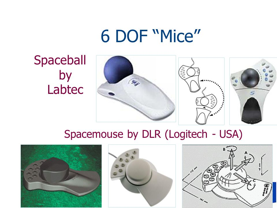 6 DOF Mice Spaceball by Labtec Spacemouse by DLR (Logitech - USA)