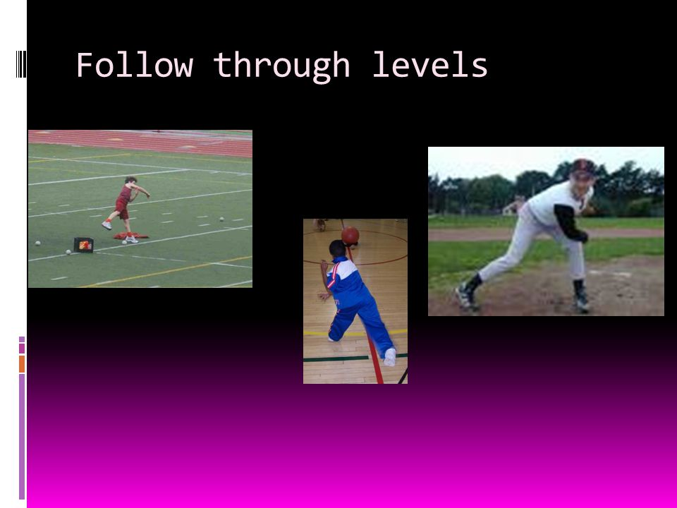 Follow through levels