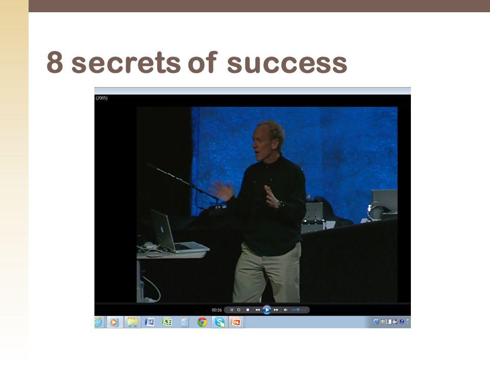 8 secrets of success