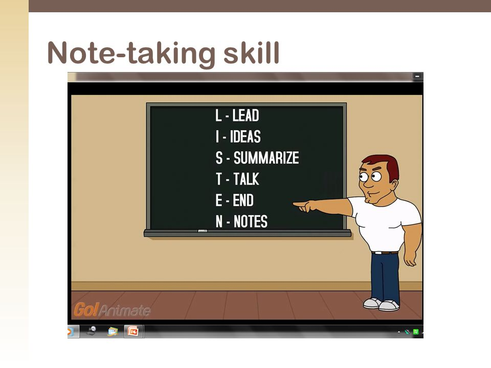 Note-taking skill