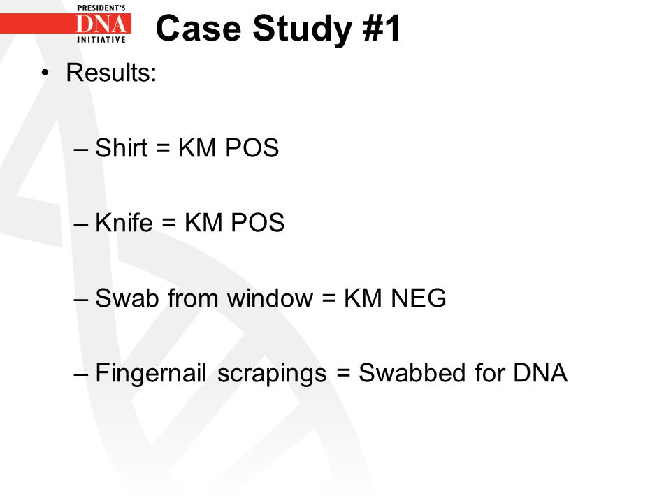 Case Study #3 What tests would you perform on: –Glove –Ski mask –Baseball cap –Swab