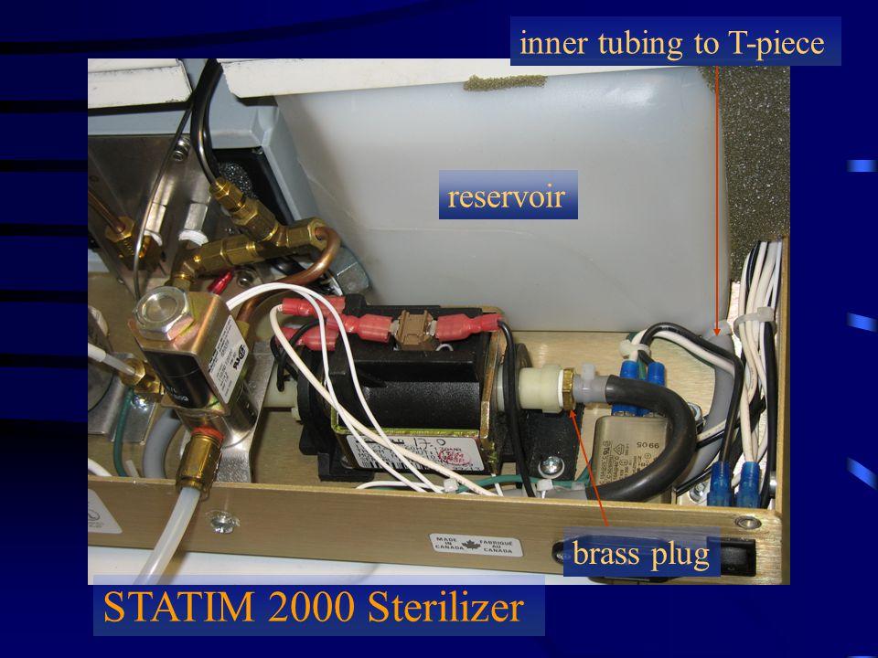 STATIM 2000 Sterilizer reservoir inner tubing to T-piece brass plug