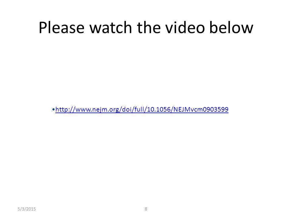 5/3/20158 Please watch the video below http://www.nejm.org/doi/full/10.1056/NEJMvcm0903599