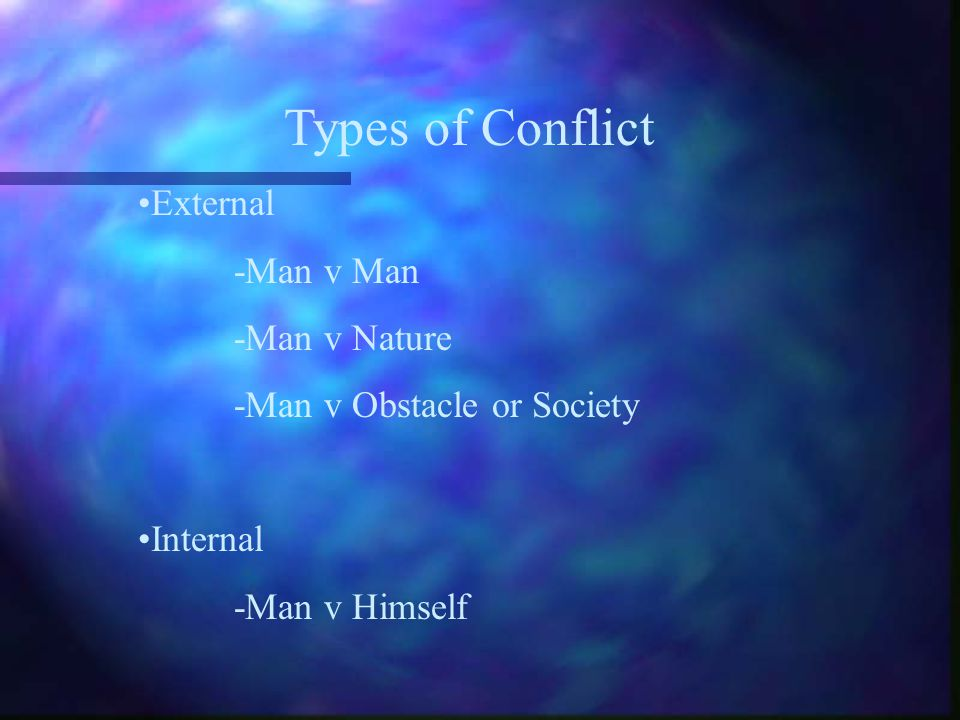 The plot of a short story centers around conflict. Conflict is a struggle between opposing forces. Complications build the reader's excitement.