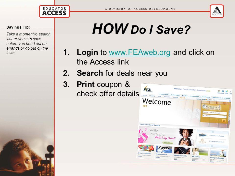 HOW Do I Save.
