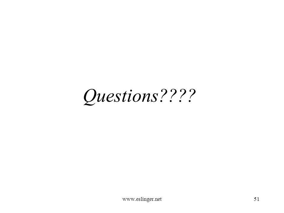 www.eslinger.net51 Questions