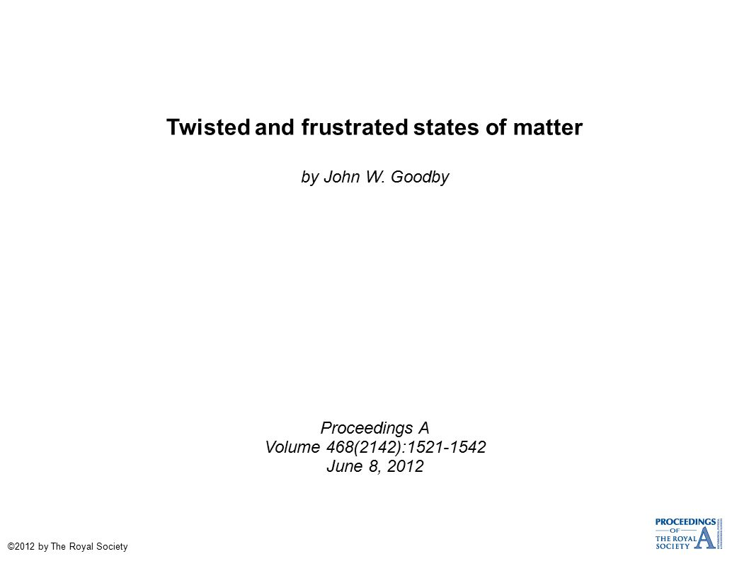 Twisted and frustrated states of matter by John W.