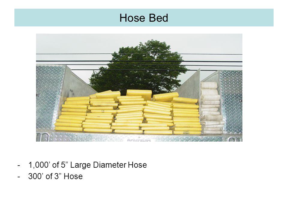 """Hose Bed -1,000' of 5"""" Large Diameter Hose -300' of 3"""" Hose"""