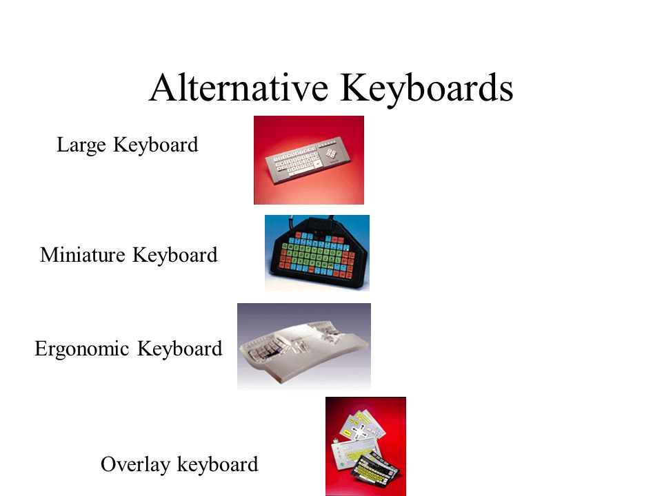 Alternatives to the Mouse Rollerball and Joystick Touchscreen
