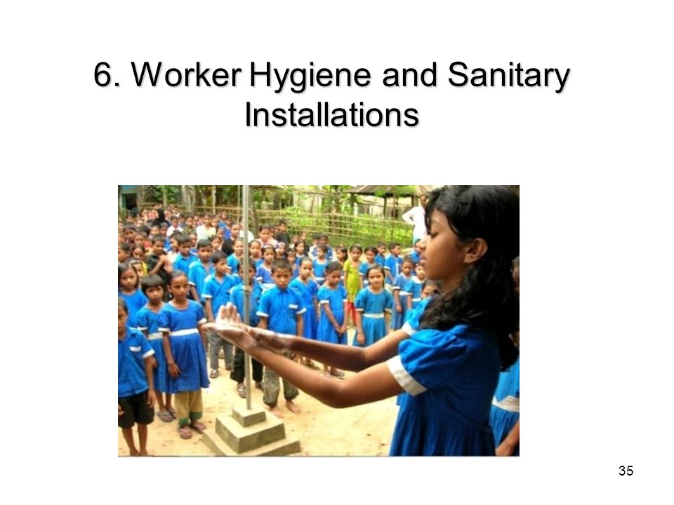 6. Worker Hygiene and Sanitary Installations 35