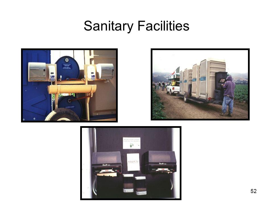 Sanitary Facilities 52