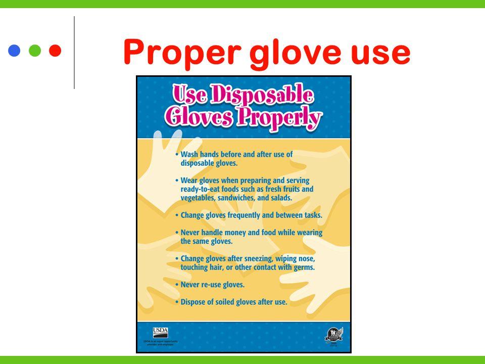 Proper glove use
