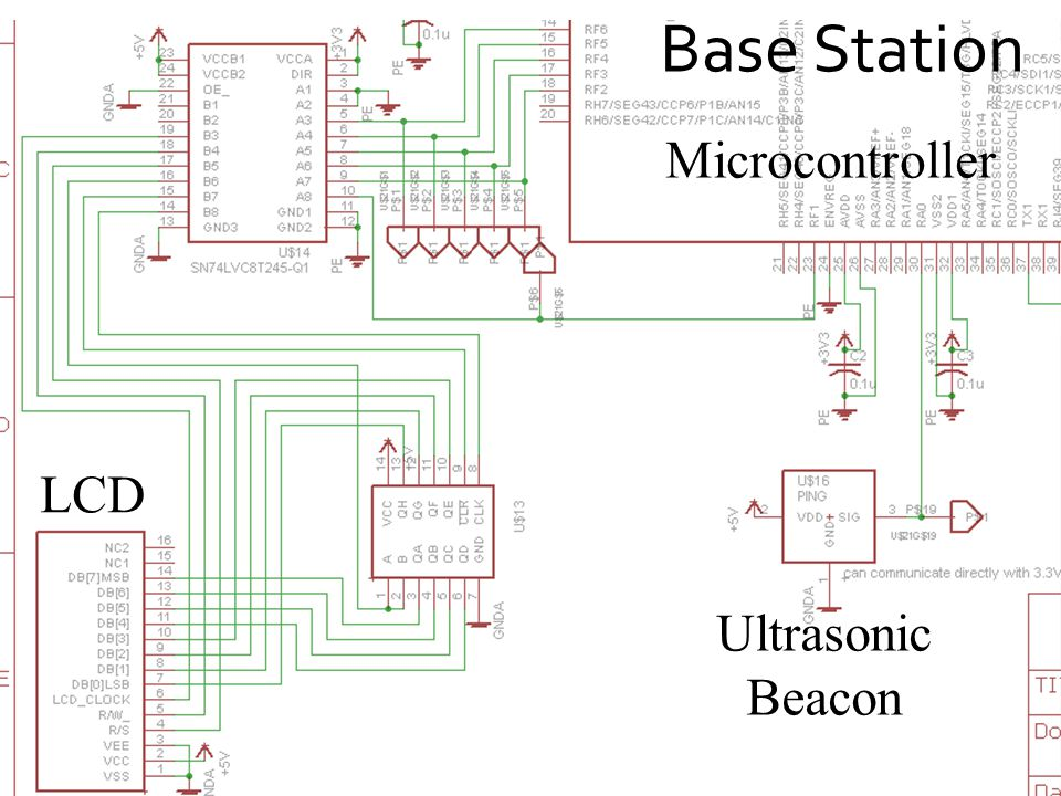 Base Station LCD Microcontroller Ultrasonic Beacon
