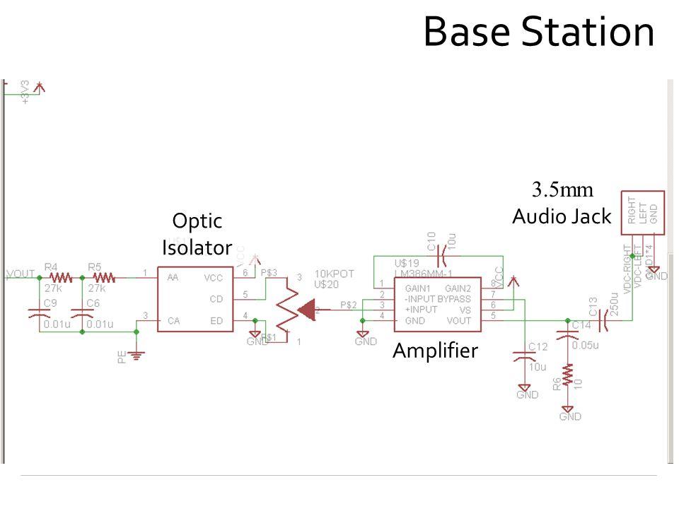 Base Station Optic Isolator Amplifier 3.5mm Audio Jack