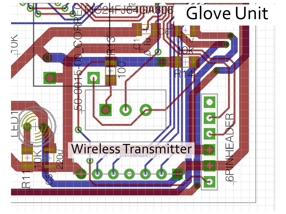 Glove Unit Wireless Transmitter