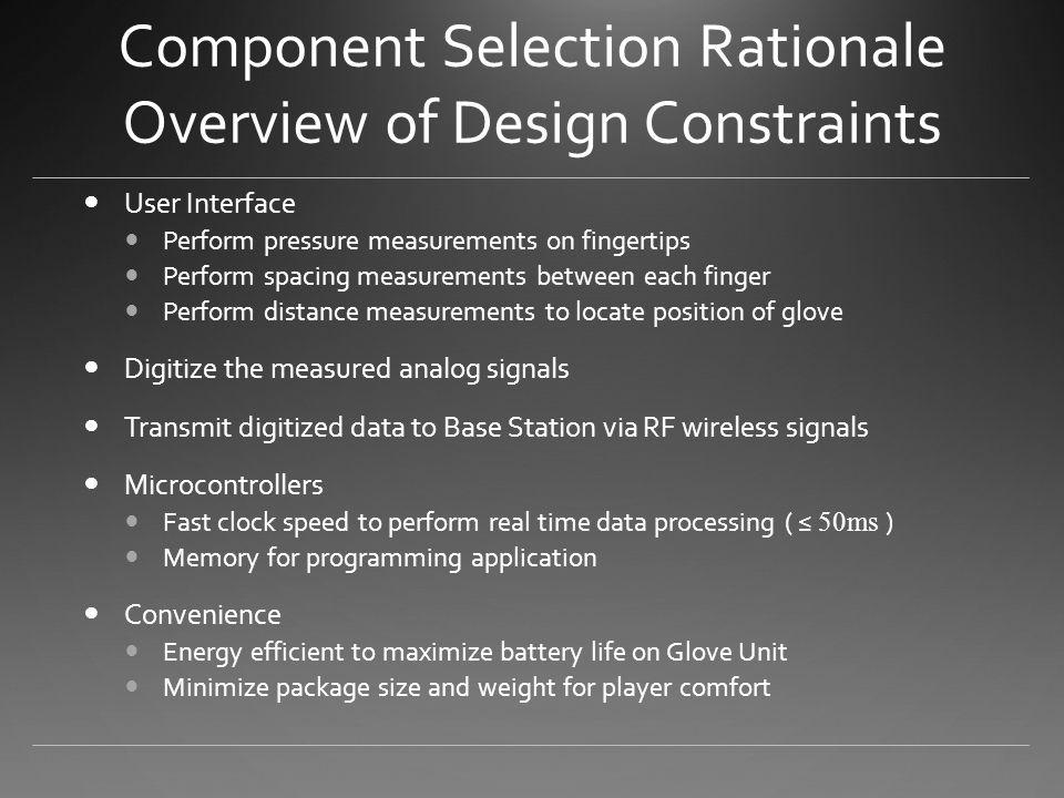 Glove Unit Sensors & Optic Isolators