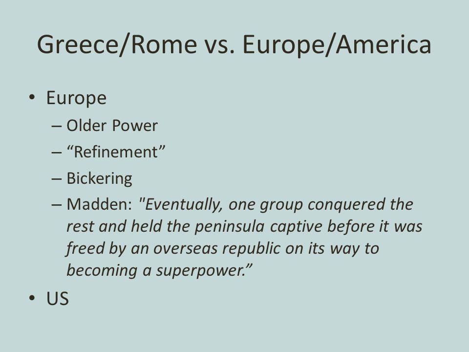 Greece/Rome vs.