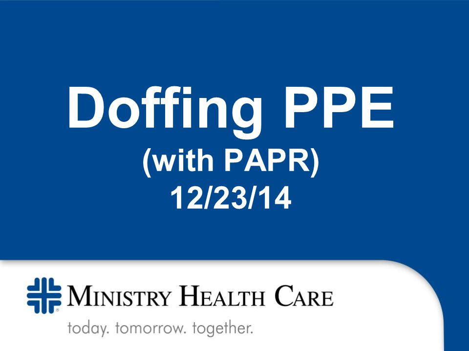 Doffing PPE (with PAPR) 12/23/14