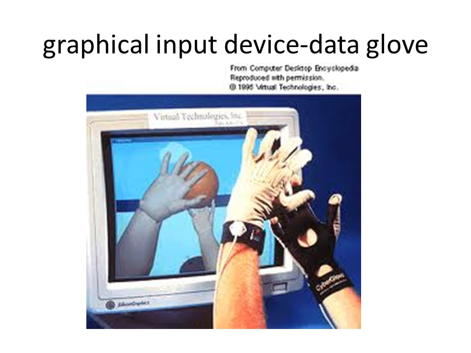 graphical input device-data glove