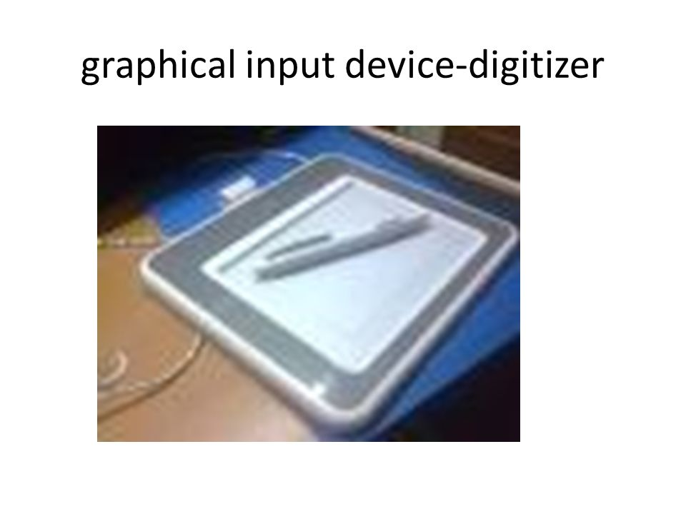 graphical input device-digitizer
