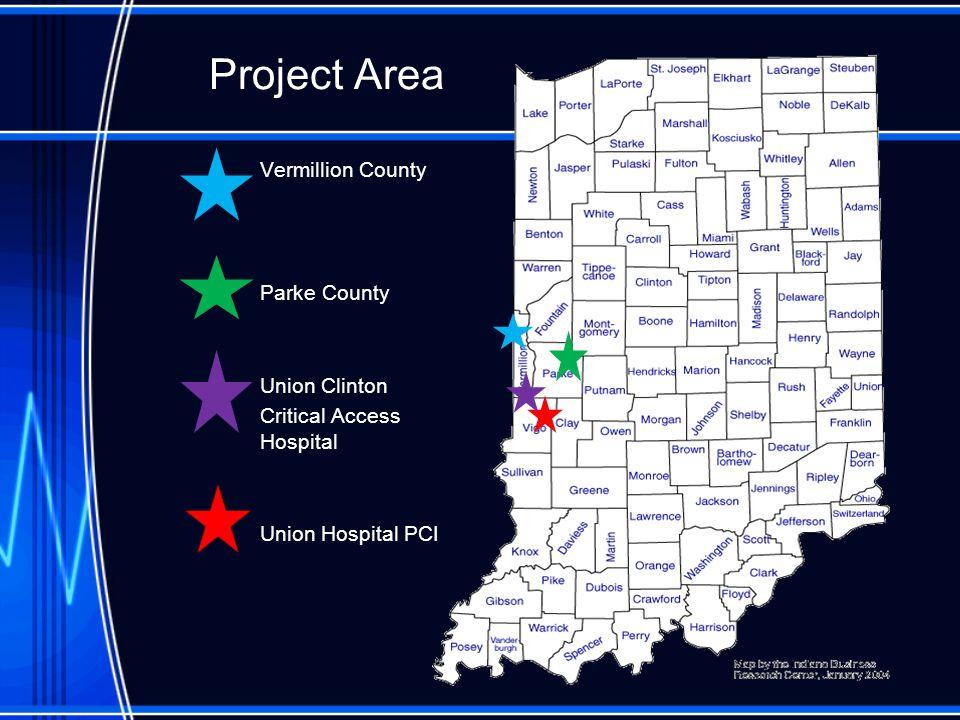 Project Area Vermillion County Parke County Union Clinton Critical Access Hospital Union Hospital PCI