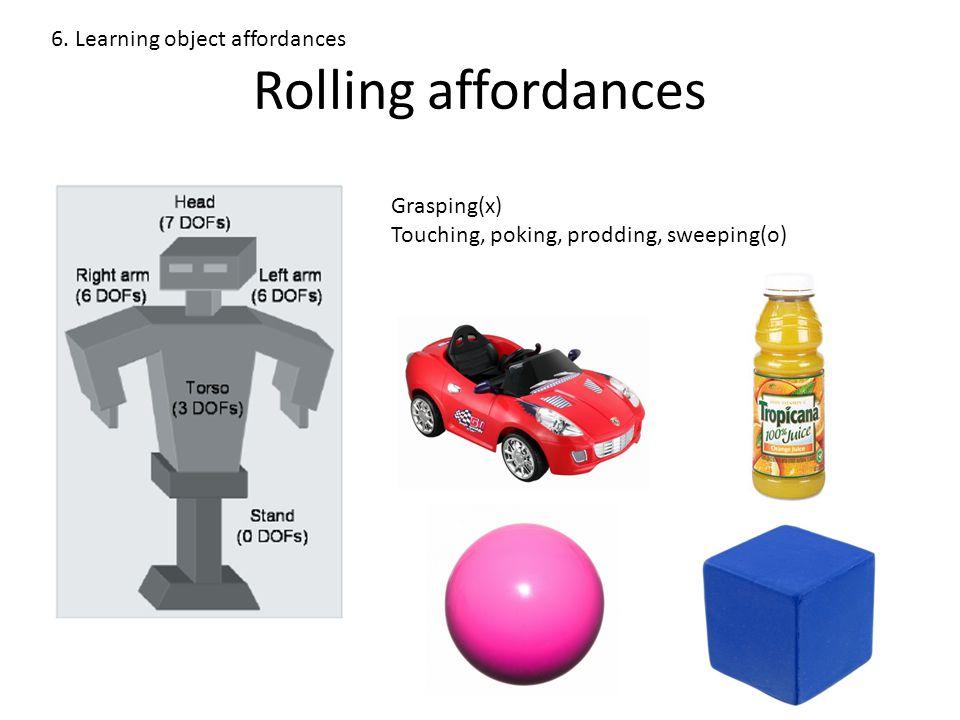 Rolling affordances 6.