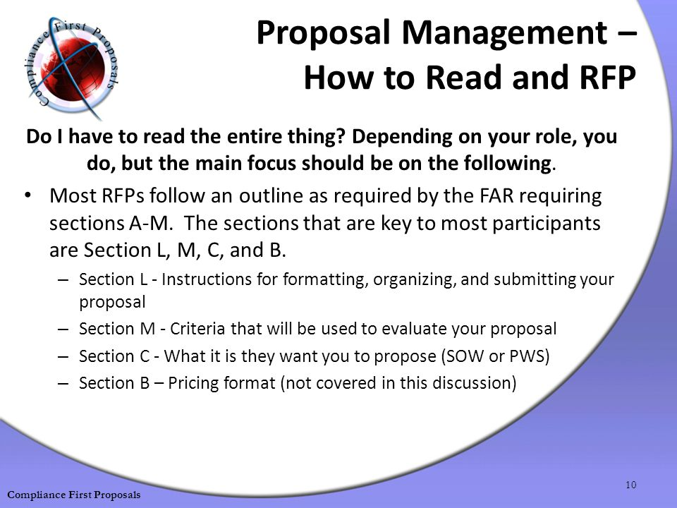 Proposal Management – How to Read and RFP Do I have to read the entire thing.