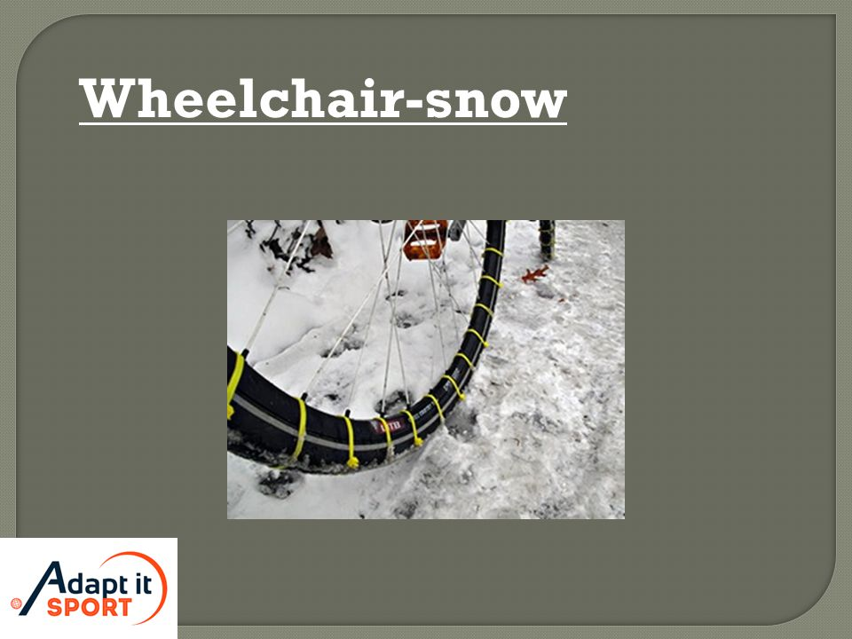 Wheelchair-snow
