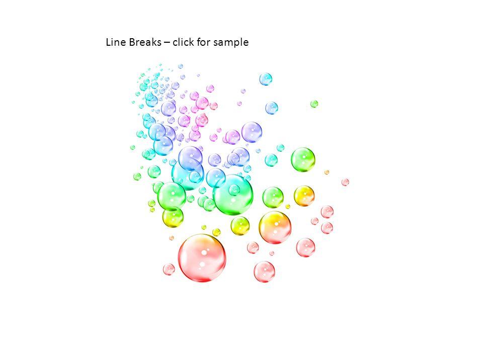 Line Breaks – click for sample