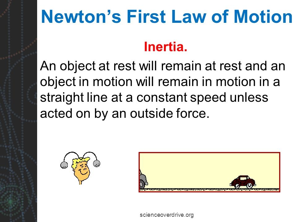 Newton's First Law of Motion Inertia.