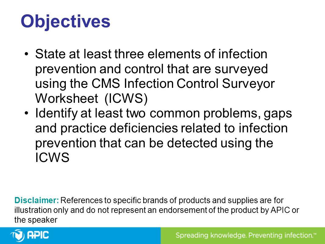 Using the CMS ASC Infection Control Surveyor Worksheet Kathleen ...