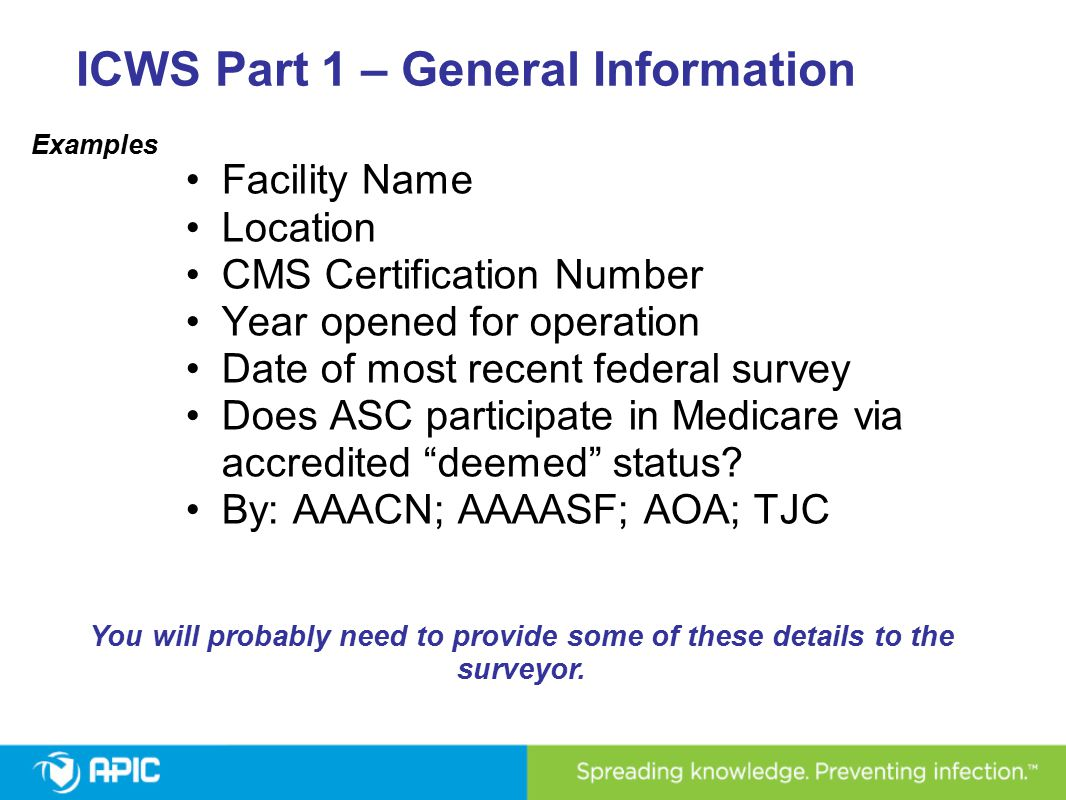 ICWS: Sterilized Items Appropriately maintained and handled throughout the process Stored in designated clean areas Packages inspected for integrity, reprocessed if not intact No wet packs