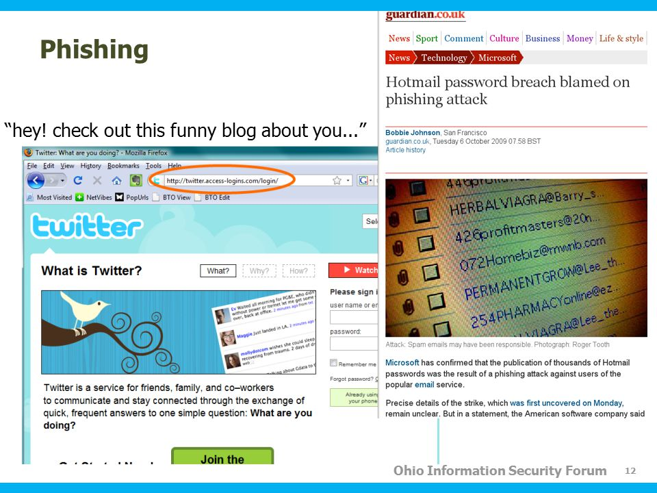 "Ohio Information Security Forum Phishing ""hey! check out this funny blog about you..."" 12"