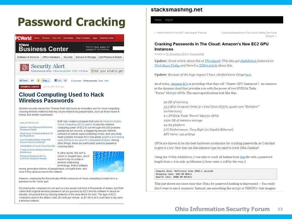 Ohio Information Security Forum Password Cracking 13