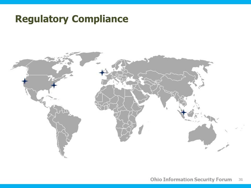 Ohio Information Security Forum Regulatory Compliance 31