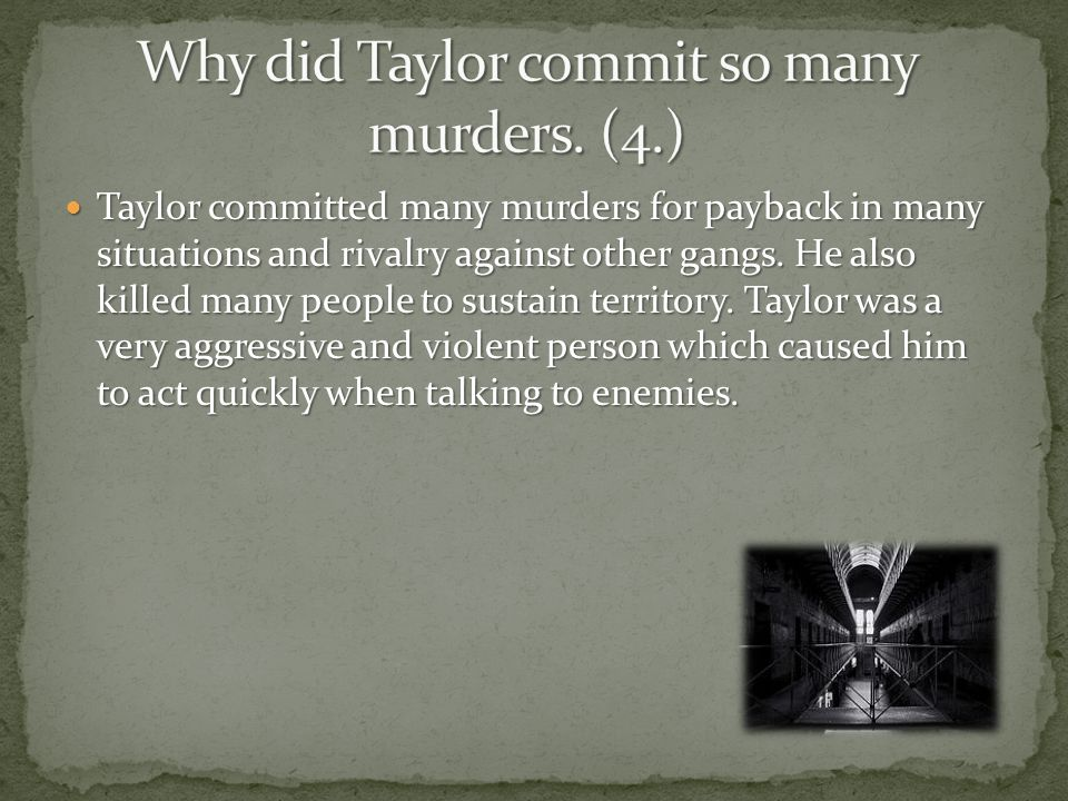 The Fitzroy Vendetta was Squizzy Taylor's gang which had a violent reputation for assault and theft.